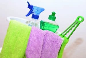 Move in and move out cleaning services - cleaning supplies