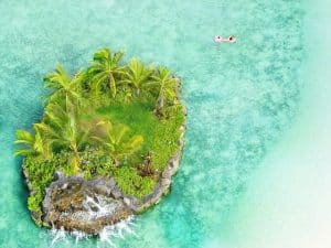 Hawaiian small island.