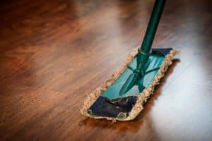 Cleaning mop. - Senior moving to Hawaii can hire a cleaning company.