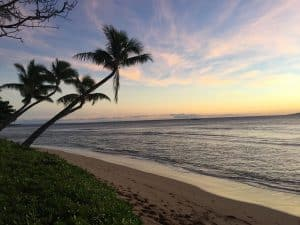 A sunset on the island of Maui.