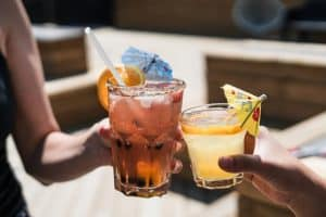 2 cocktails.