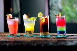 4 cocktails.