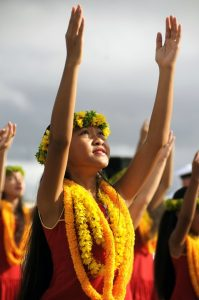 Traditional Hula dance.
