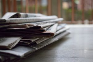 Newspaper as a part of packing supplies