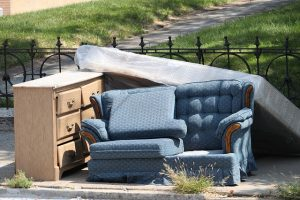 In order to rid yourself from old furniture leave it out on the curb