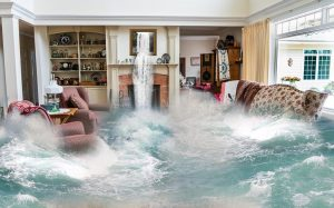 Protect your home against floods so that this flooded living room from the picture does not happen in your home